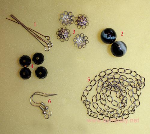 материалы для серег цепочек