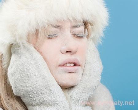 лицо от мороза
