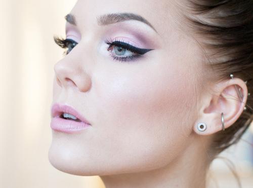 розовый макияж на день святого валентина
