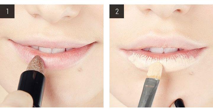 как отшелушить губы