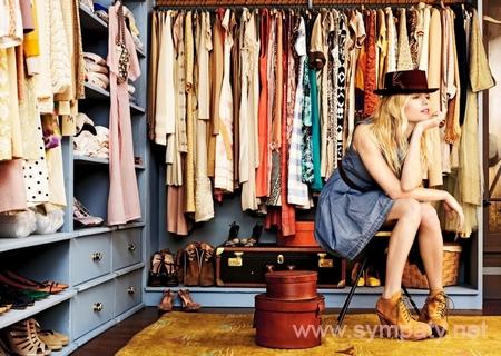 разбирать гардероб