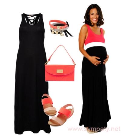 как одеться беременной летом