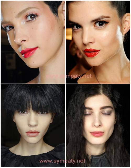 макияж губ бровей цветотип зима