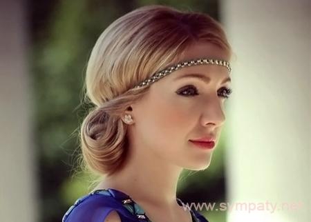 прически греческого стиля с повязкой