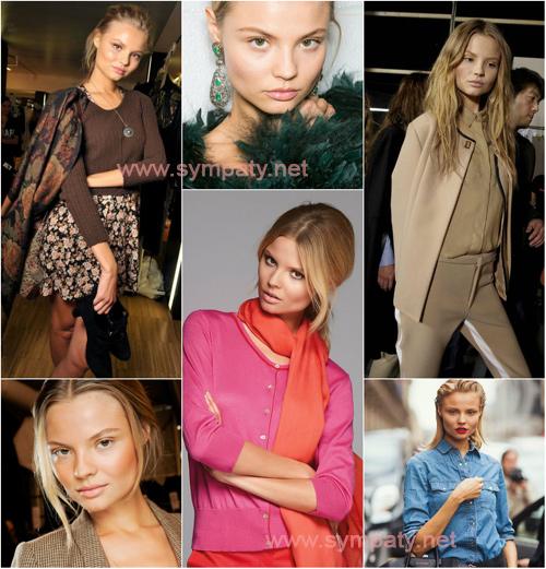 Magdalena Frackowiak – теплая осень (warm autumn). В ее внешности преобладают теплые, глубокие и плотные краски.