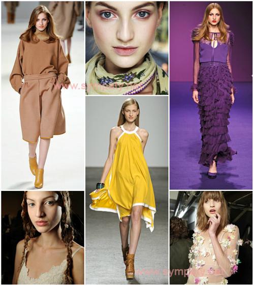Simona Andrejic - warm spring. Модель умело подбирает цвета из теплой палитры, особенно выделяя ее самые легкие и яркие оттенки.