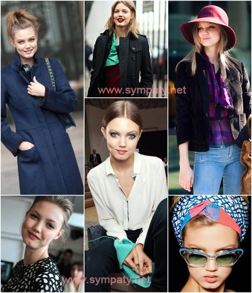 Lindsey Wixson (cool summer). Модель грамотно подходит к выбору одежду и цветов,  отбирая для себя только холодные оттенки, слегка смягченные серым цветом.