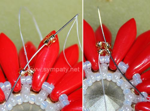 Плетём петельку для кулона из бисера