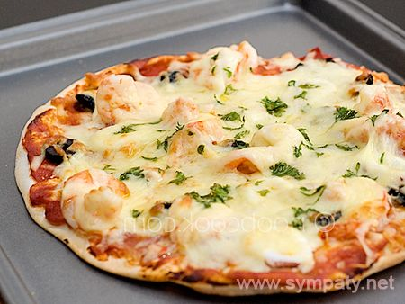 тесто для пиццы в микроволновке