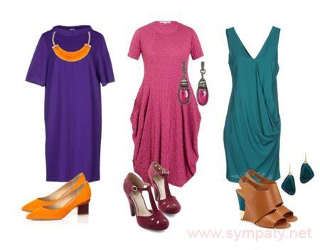подбор цвета платья