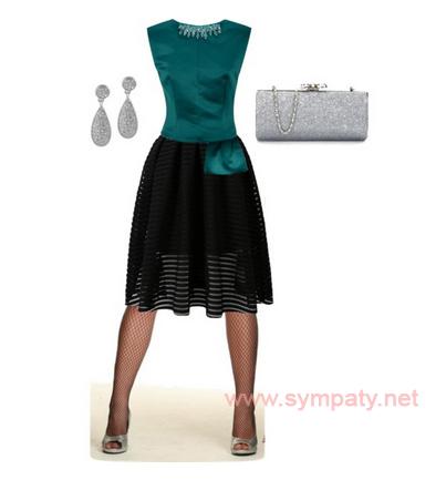 черные колготки в сетку с чем носить