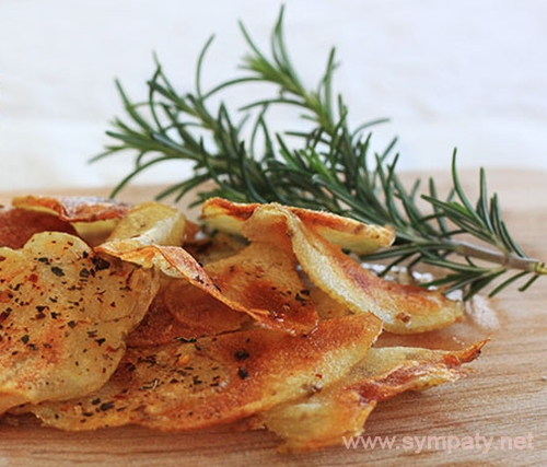 как приготовить картофельные чипсы в микроволновке