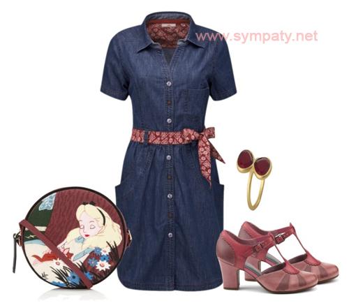 джинсовое платье можно ли носить с поясом