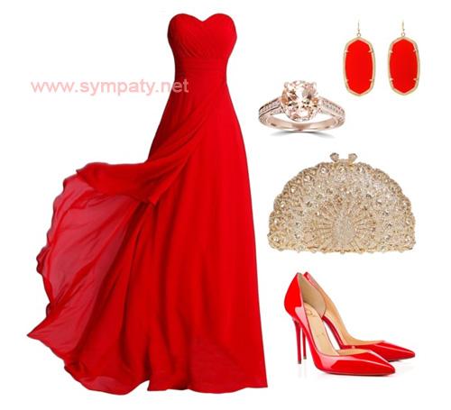 выпускные платья красного цвета