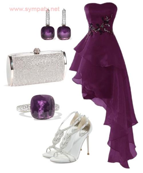 какого цвета платье на выпускной