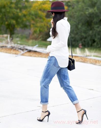 джинсы герлфренд на фото