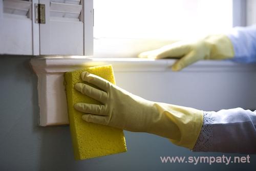 чем отмыть подоконник пластикового окна