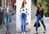 что носить с джинсами с завышенной талией