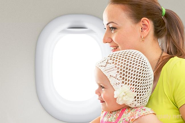 дети до года в самолете