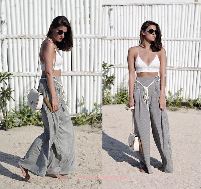 с чем носить широкие брюки летом