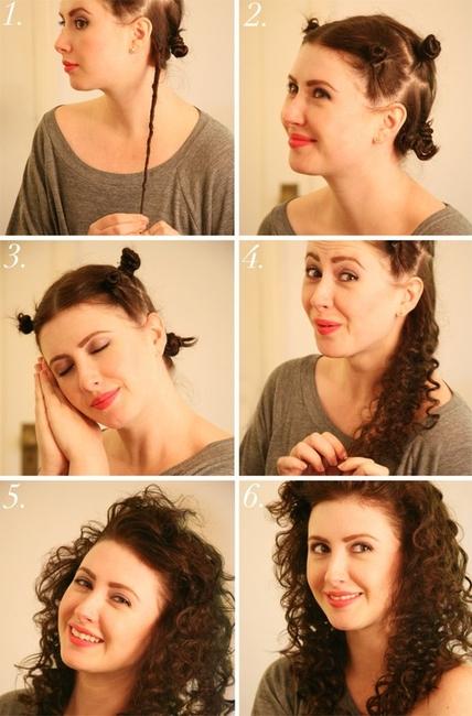 накрутить волосы без бигудей плойки