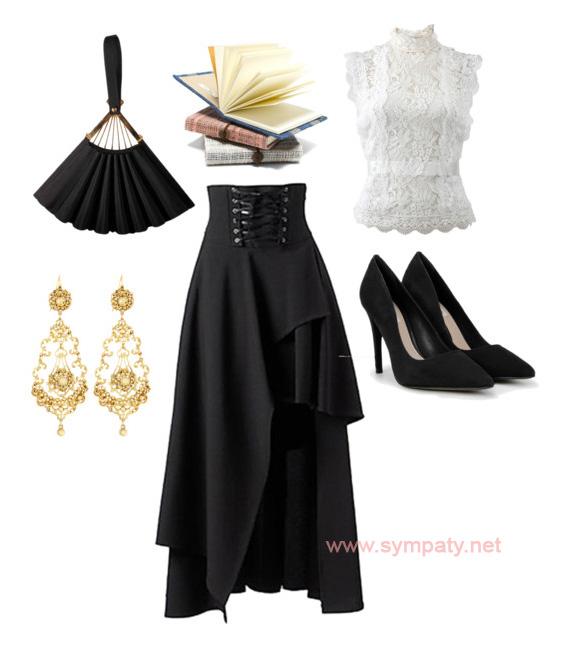 викторианский стиль в одежде женщины