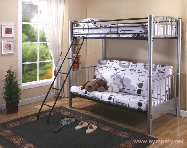 кровать двухъярусная взрослая металлическая