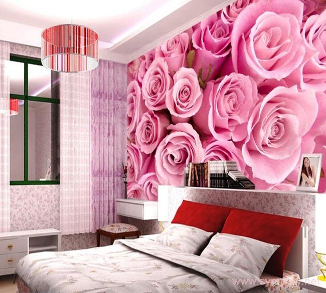фотообои цветы в спальню над кроватью