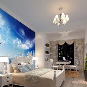 фотообои над кроватью