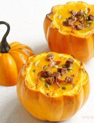 Из полезной диетической тыквы можно приготовить множество вкусных блюд