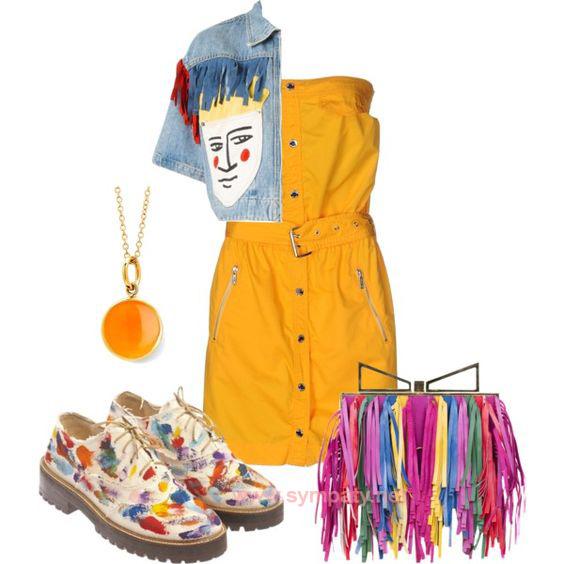 Броги как элемент дерзкого многоцветного летнего образа