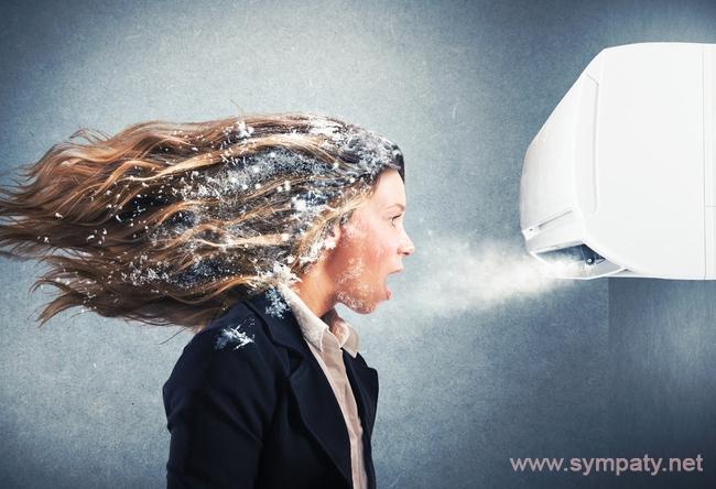 Как не простудиться под кондиционером в офисе оптимальная