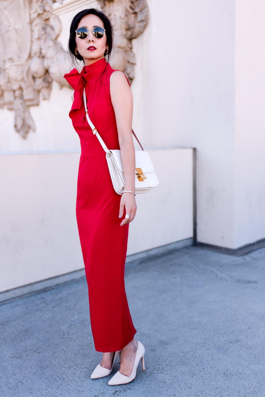 красное длинное платье для гостьи свадьба лето